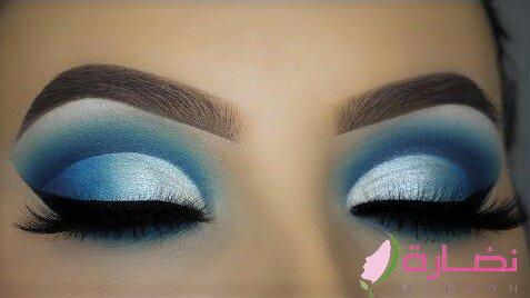 مكياج العيون الأزرق